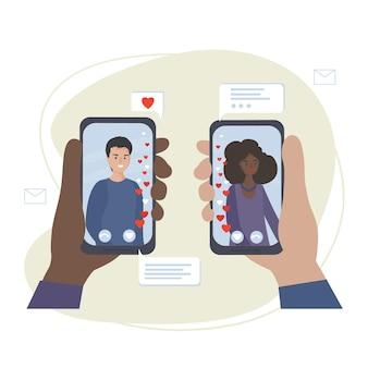 Namoro e comunicação online