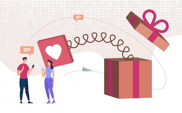 Namoro on-line, declaração de amor on-line