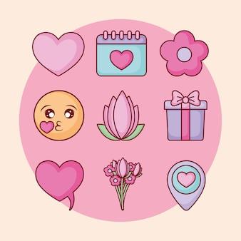 Namoro on-line ícones relacionados