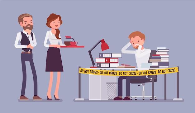 Não cruze a fita do escritório
