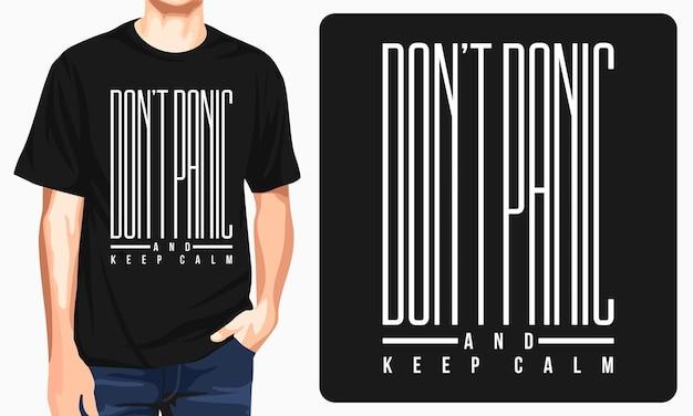 Não entre em pânico - camiseta gráfica