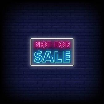 Não está à venda sinais de néon estilo texto