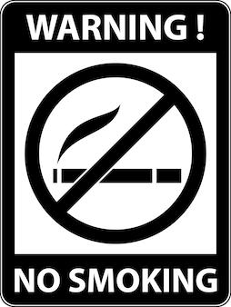 Não fumar fumaça de cigarro e símbolo de proibição de charuto sinal indicando a proibição ou regra