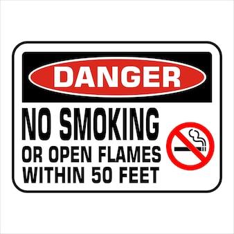 Não fumar proibição de ilustração vetorial de sinal de proibição