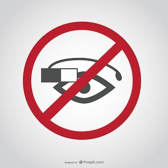 Não google óculos sinal
