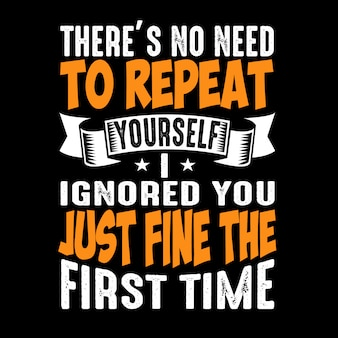 Não há necessidade de repetir