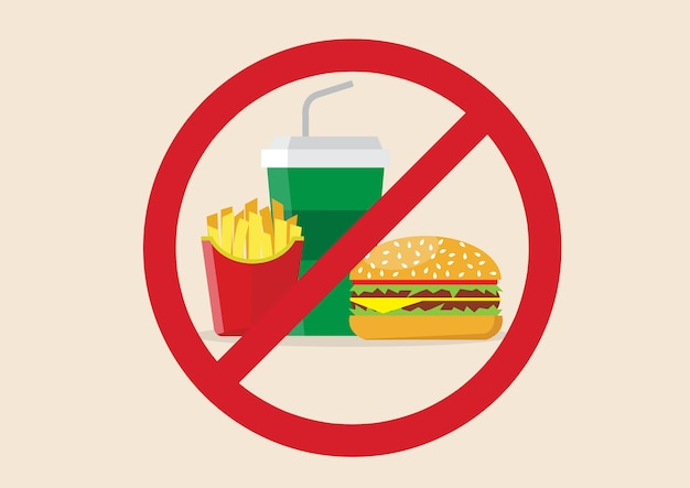 Não há perigo de fast food