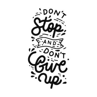 Não pare e não desista de citação de letras