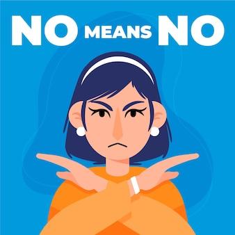Não significa não interromper o comportamento abusivo
