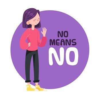 Não significa não