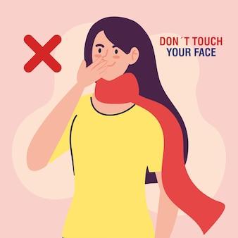 Não toque no seu rosto