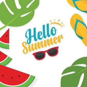 Nas férias de verão, modelo de banners de layout de fundo venda verão