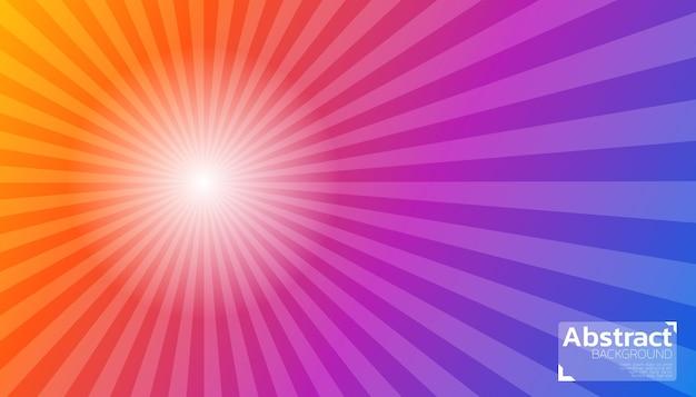 Nascer do sol abstrato colorido