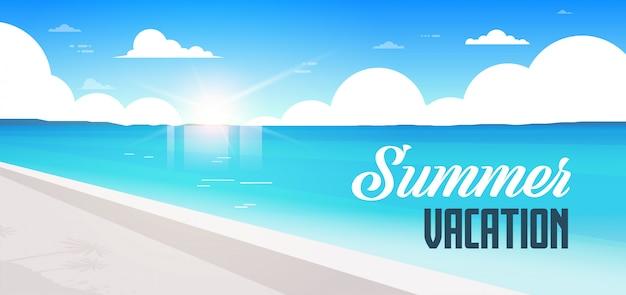 Nascer do sol praia vista verão férias beira mar mar oceano