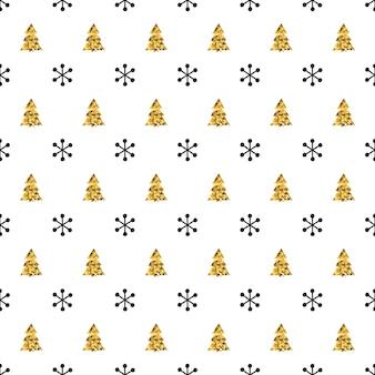 Natal ano novo sem costura padrão