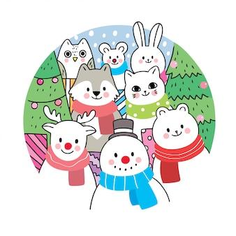 Natal bonito dos desenhos animados