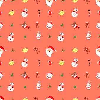 Natal bonito sem costura padrão vector.