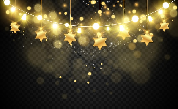 Natal brilhante, luzes bonitas, s. luzes brilhantes para o design de cartões de natal. guirlandas, decorações de natal de luz.