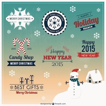 Natal coleção elementos de design