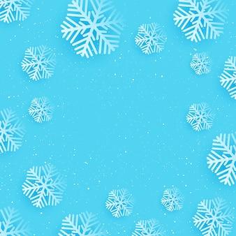 Natal com desenho de floco de neve