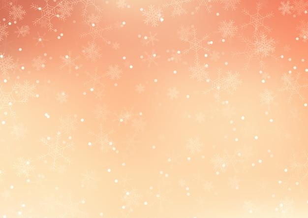 Natal com desenho de flocos de neve caindo Vetor grátis