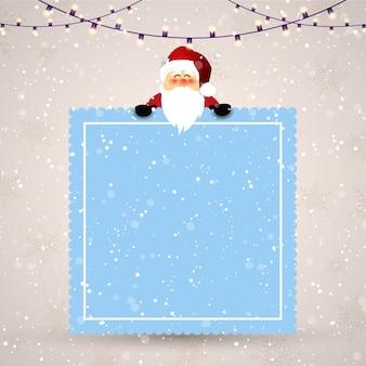 Natal com um lindo desenho de papai noel