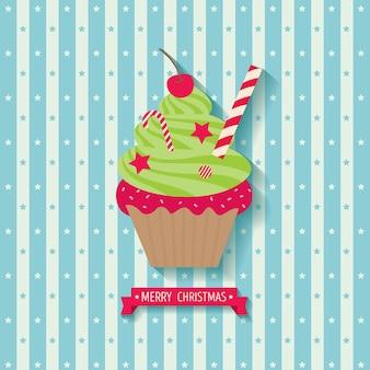 Natal cupcake