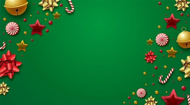 Natal de fundo com decoração realista
