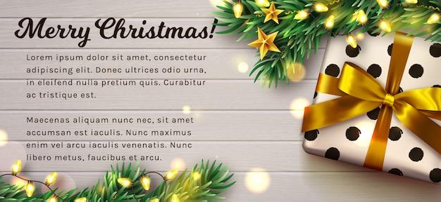 Natal de madeira decorado. .