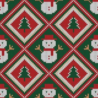 Natal de malha sem costura padrão.
