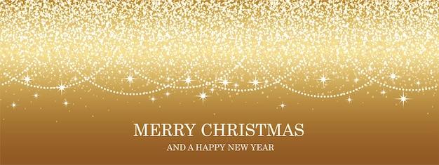 Natal de vetor ouro abstrato