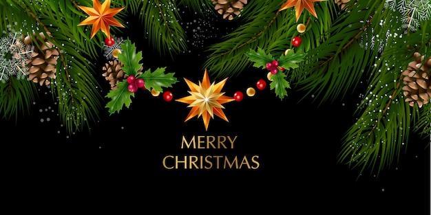 Natal. decoração brilhante de feliz natal e feliz ano novo