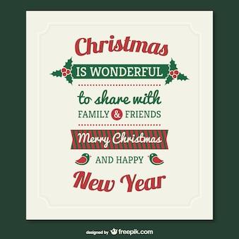 Natal do vintage cartão vector