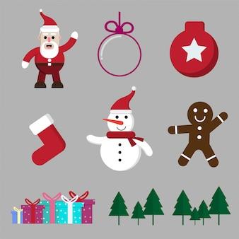 Natal dos desenhos animados e inverno temporada isolado