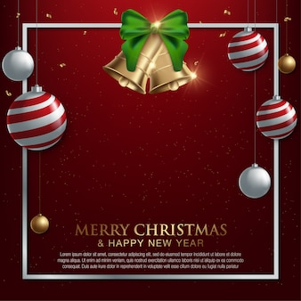 Natal e ano novo. cartão de saudação de vetor