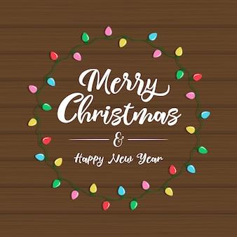 Natal e ano novo cartão de saudação ou convite.