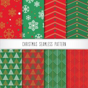 Natal e feliz ano novo conjunto de padrões.
