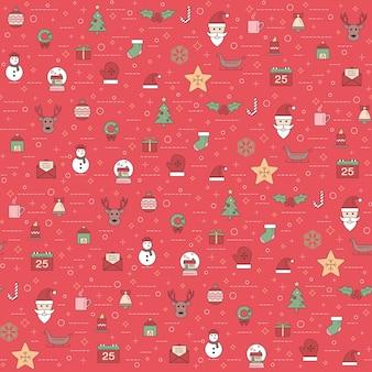 Natal e feliz ano novo padrão. padrão de férias de inverno com ornamento de natal.