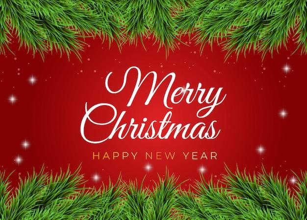 Natal e ny fundo vermelho. ilustração.