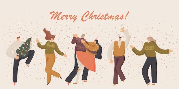 Natal e pessoas comemoram
