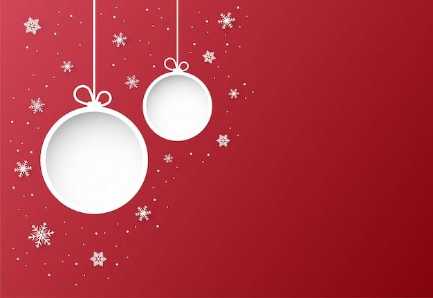 Natal e vermelho de fundo vector com floco de neve