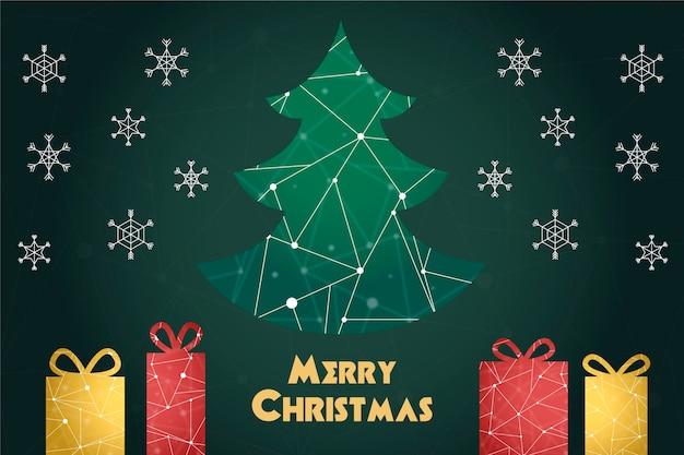 Natal em estilo poligonal de fundo
