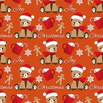 Natal feriado temporada sem costura padrão.