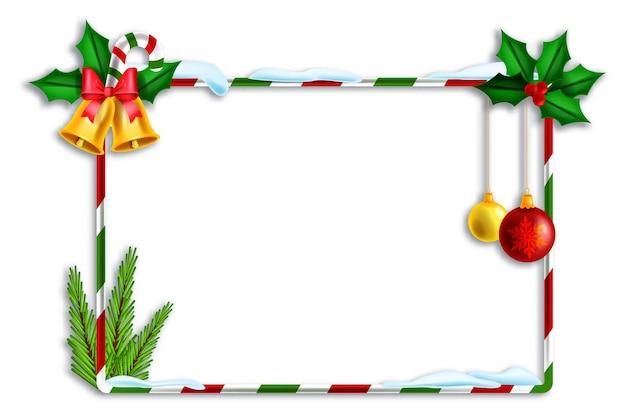 Natal feriado vetor moldura listrada natal decoração fronteira festivo inverno banner quadrado