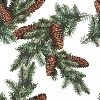 Natal feriados ano novo natal árvore presentes aquarela infantil bonito desenhado à mão