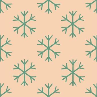 Natal floco de neve ornamento padrão fundo mídia social post ilustração em vetor natal