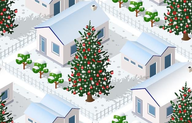 Natal inverno cidade gráfico férias