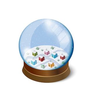 Natal inverno snowbound Vetor Premium