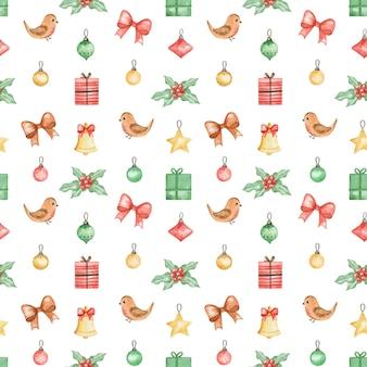 Natal padrão sem costura repetir fundo