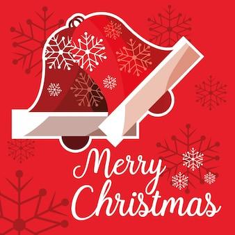 Natal, sinos, decorativo, ícone
